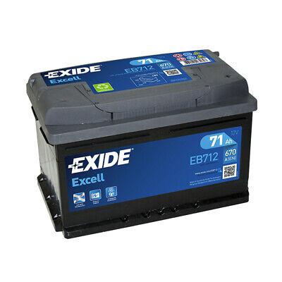 Batterie Exide EB712 12v 71AH 670A