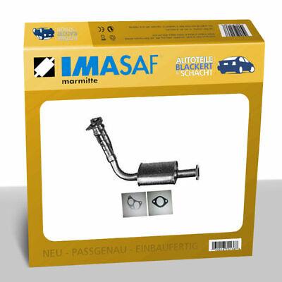 IMASAF Auspuff Vorschalldämpfer für Ford Escort V +VI+VII 1.8 D o.Kat (GAL AVL)