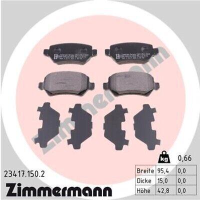 ZIMMERMANN Bremsbeläge Bremsbelagsatz Bremsklötze Hinten 23417.150.2