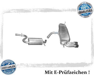 Auspuffanlage Audi A3 Sportback 1.4 TFSI Bj.04-13 Auspuff Endtopf Mitteltopf