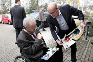 Wolfgang Schäuble (li.) Claudius Maintz (re.)
