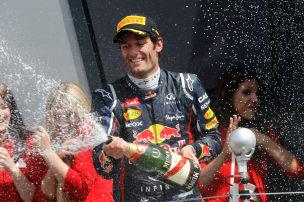 Webber macht das Rennen