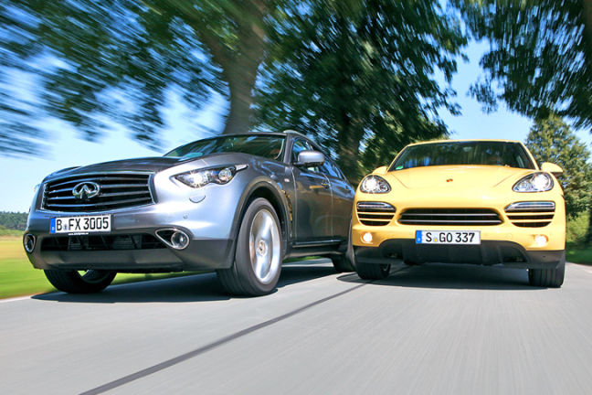 Video: Infiniti FX vs. Porsche Cayenne