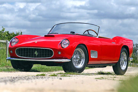 ferrari 250 gt lwb california spider prototyp auktion. Black Bedroom Furniture Sets. Home Design Ideas
