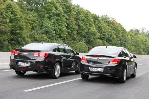 Bruderkampf: Der Opel Insignia trifft auf den Chevrolet ...