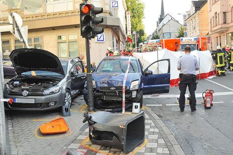 Unfallstelle in Wuppertal