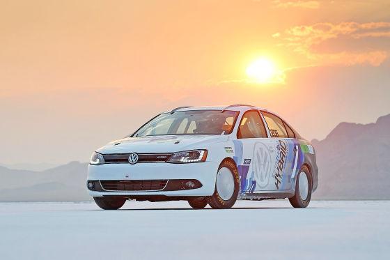 VW Jetta Hybrid Geschwindigkeitsrekord in Bonneville 2012