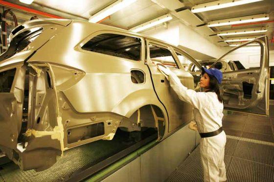 Ford Mondeo-Produktion im Werk Genk