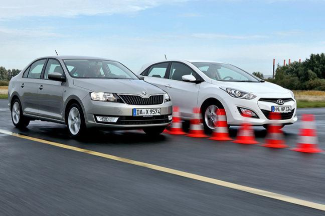 Video: Hyundai i30, Skoda Rapid