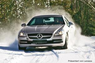 Breite Reifen für Eis und Schnee