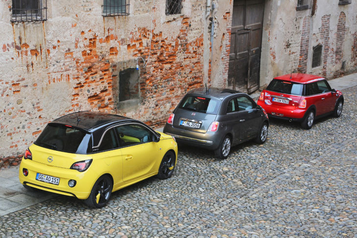 Fiat 500 Mini One Opel Adam