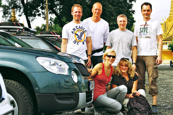 Sechs AUTO BILD-Leser nahmen an der Yeti-Tour teil.