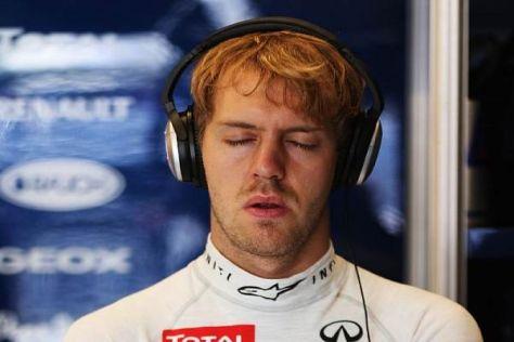 Volle Konzentration: Sebastian Vettel steht vor seinem dritten WM-Titel