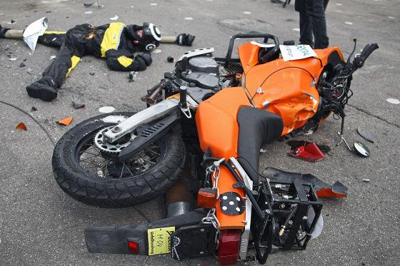 Dektra-Test Motorradunfall