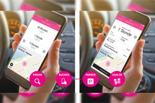 """Park and Joy""-App der Telekom"