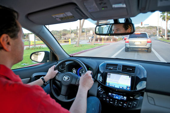 Hauke Schrieber im Toyota RAV4 EV