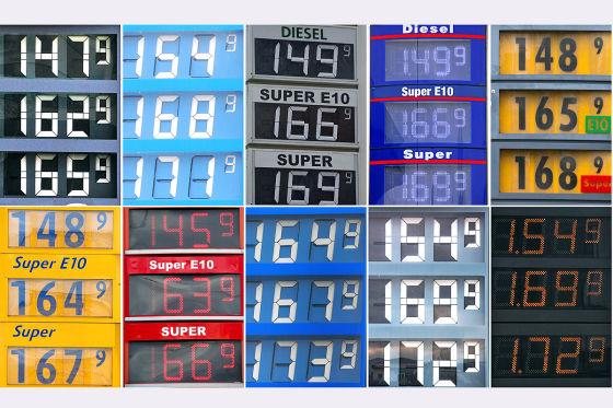 Kombo Benzinpreistafeln