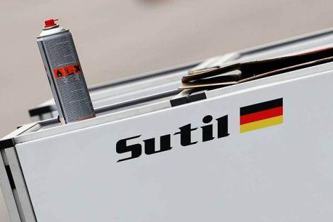 Der Schriftzug von Adrian Sutil soll 2013 wieder auf einem Formel-1-Auto kleben