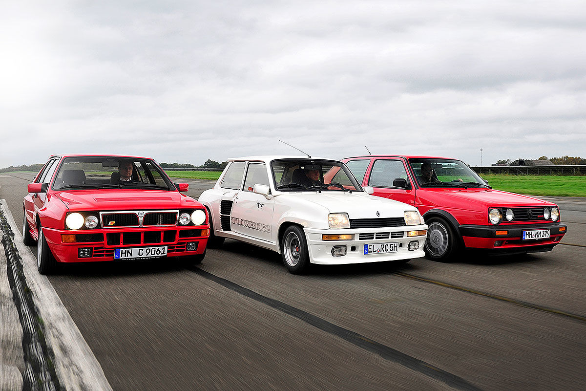 Lancia Delta HF Integrale Renault 5 Turbo VW Golf GTI G60