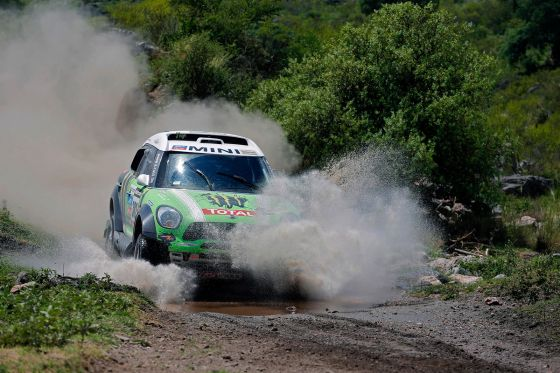 Stéphane Peterhansel im Mini All4 Raccing auf der 11. Etappe der Rallye Dakar 2013
