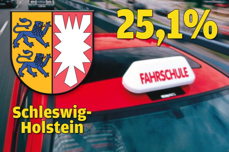Schleswig-Holstein 25,1 Prozent