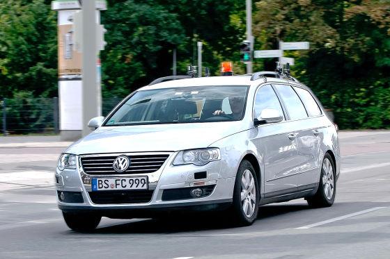 Autonomes Parken Versuchsfahrzeug