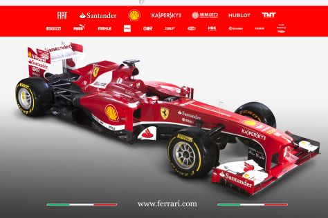 ferrari f138 neuer formel 1 rennwagen erstmals mit 8. Black Bedroom Furniture Sets. Home Design Ideas