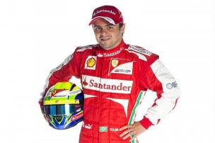 Massa und der neue Ferrari: Immerhin sind Räder dran...