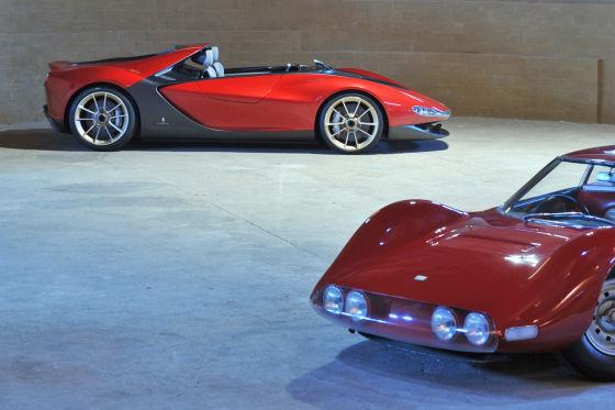 Ferrari Dino Berlinetta Speciale (vorne) und Pininfarina Sergio Concept