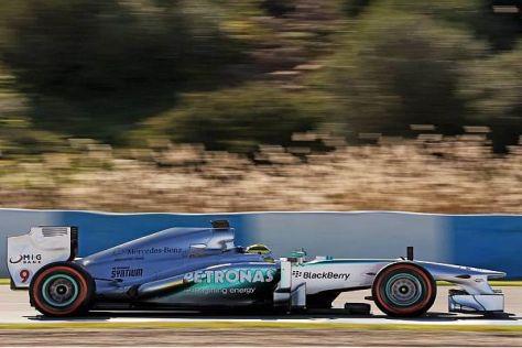 Der neue Mercedes als Kilometerfresser: Nico Rosberg schaffte 148 Runden