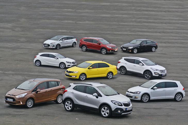 Neun Autos im Komfort-Check