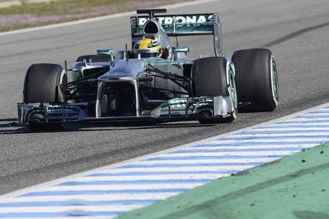 Lewis Hamilton hinterließ bei Mercedes einen guten ersten Eindruck