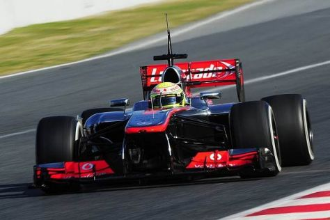 Sergio Perez brannte die schnellste Runde des Tages auf den Asphalt
