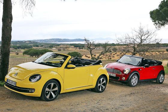 Mini Cabrio VW Beetle Cabrio