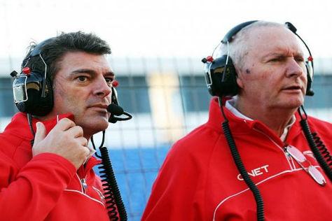 Marussia-Sportdirektor Graeme Lowdon (li.) und Teamchef John Booth (re.)