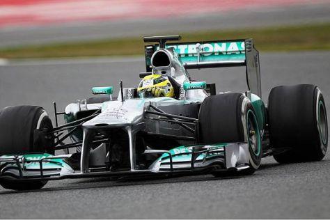 Nico Rosberg (Mercedes) fuhr am letzten Tag der Barcelona-Tests absolute Bestzeit