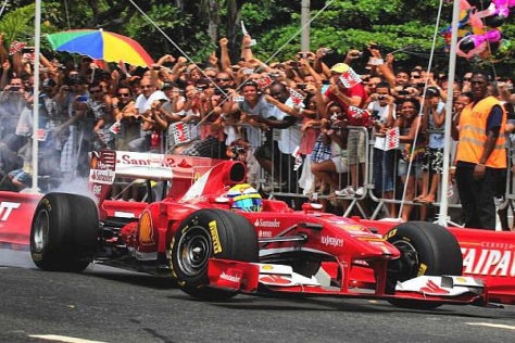 Felipe Massa begeisterte in Rio de Janeiro seine brasilianischen Fans