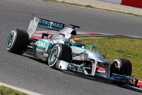 Schnell bei den Tests, aber auch schnell im Rennen? Lewis Hamilton und der W04