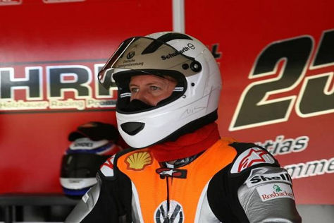 Er kann es nicht lassen: Schumacher war wieder auf zwei Rädern unterwegs