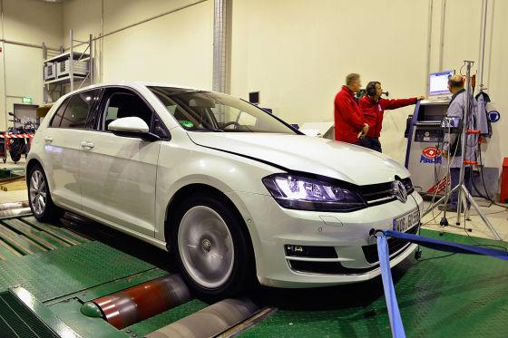 VW Golf VII Prüfstand