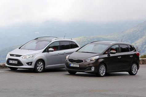 Van-Vergleichstest: Kia Carens trifft auf Ford Grand C-Max ...
