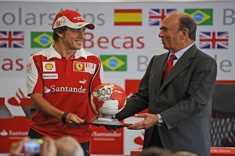 Fernando Alonsos Gage wird zum Teil von Santander-Chef Emilio Botin bezahlt