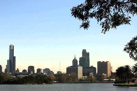Beeindruckende Kulisse: In Melbourne fährt die Formel 1 mitten in der Stadt