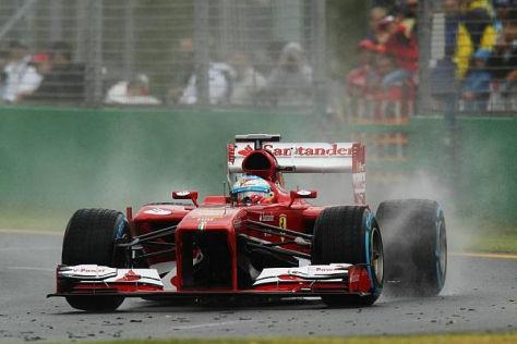 Fernando Alonso am Samstag in Melbourne: Zu viel Regen...