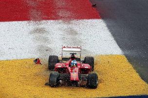 Ferrari: Alonso mit gestutztem Flügel - Punkte für Massa