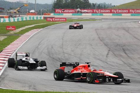 Jules Bianchi überzeugte bei seinen ersten zwei Grand-Prix-Einsätzen