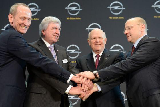 GM-Handschlag pro Opel