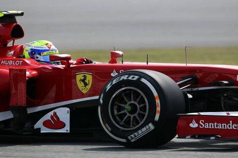 Felipe Massa überzeugte am Freitag mit der Bestzeit - womöglich mit recht leichtem Auto