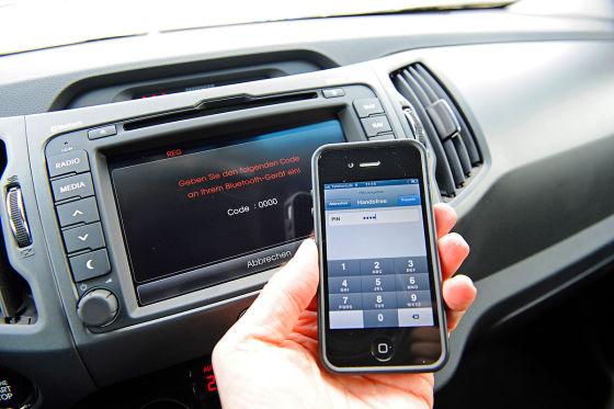 Freisprechanlage im Kia Sportage 2.0 CRDi AWD Spirit