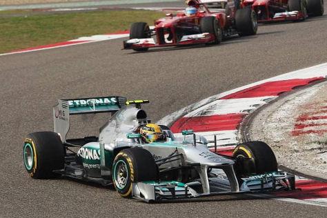 Lewis Hamilton konnte Platz eins nur wenige Runden lang verteidigen